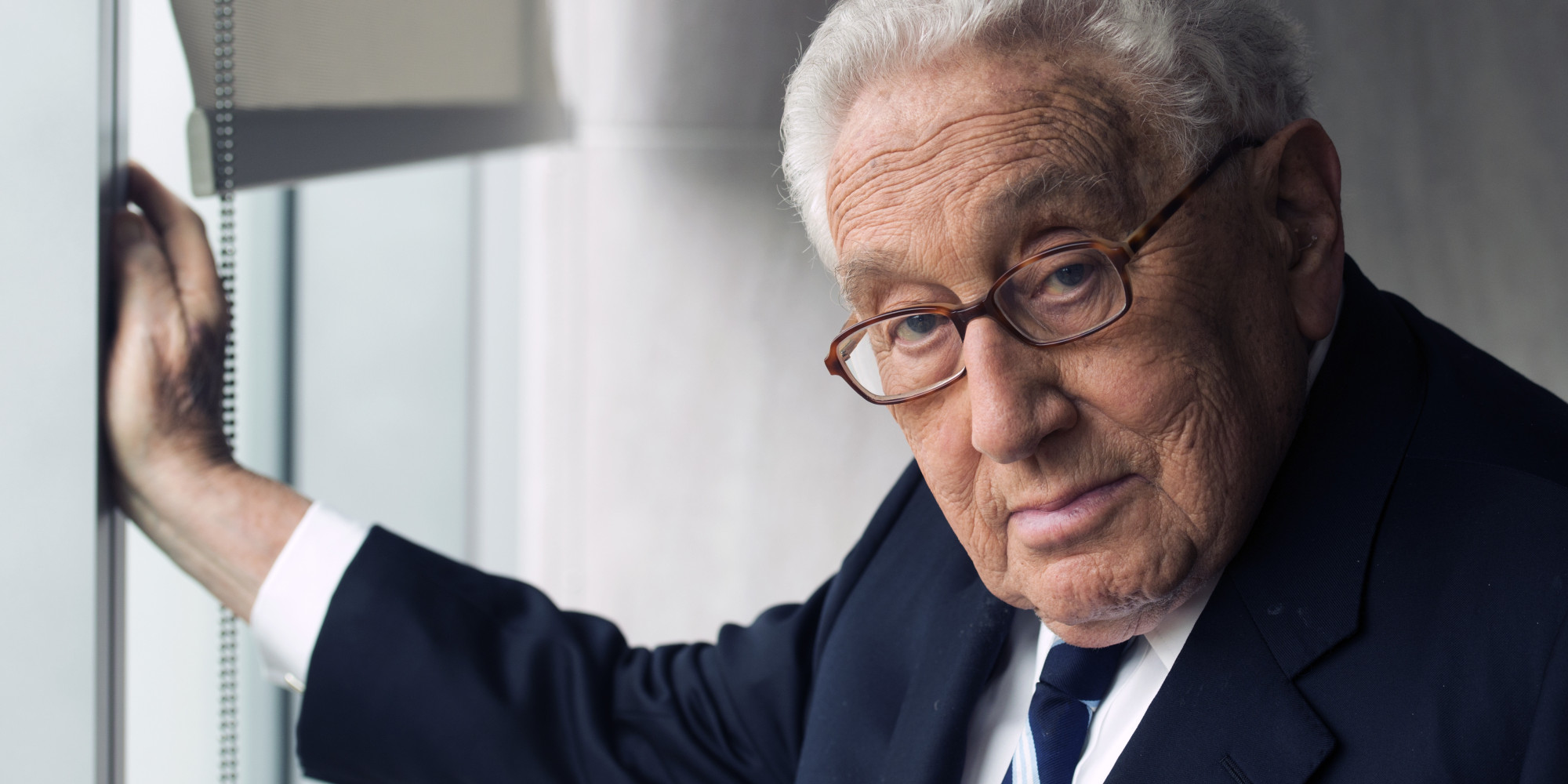 WASHINGTON, DC- SEPTEMBER 03: Henry A. Kissinger, author of his new book World Order, photographed in his office in Washington, D.C. on September 03, 2014.   (Photo by Marvin Joseph/The Washington Post via Getty Images)